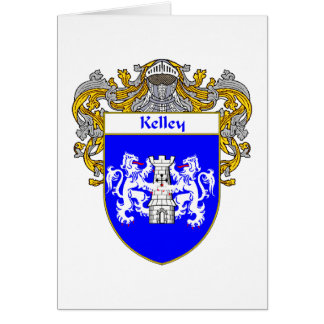 Kelley Coat of Arms (Mantled) Greeting Card