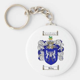 KELLEY FAMILY CREST -  KELLEY COAT OF ARMS BASIC ROUND BUTTON KEY RING