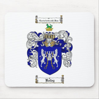 KELLEY FAMILY CREST -  KELLEY COAT OF ARMS MOUSE PAD