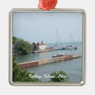 Kelleys Island, Ohio Boat Photo Christmas Ornament