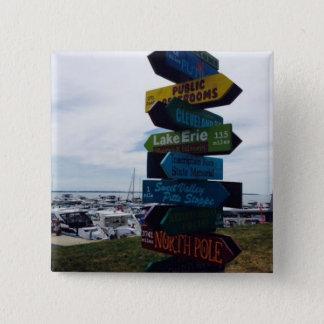 Kelley's Island, Ohio Sign Photo Button