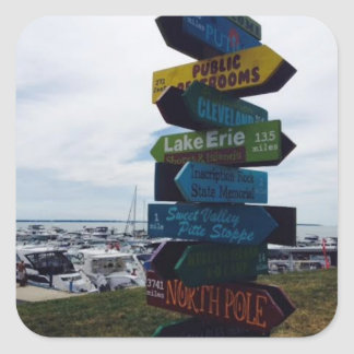 Kelley's Island, Ohio Sign Photo Sticker