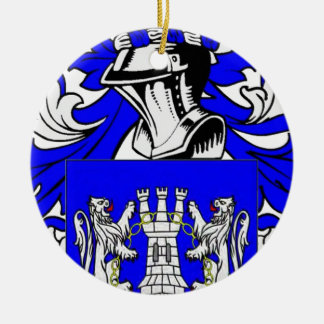 Kelly Coat of Arms Round Ceramic Decoration