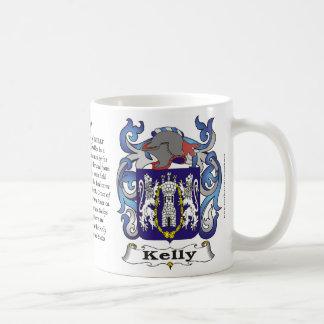 Kelly Family Coat of Arms Mug