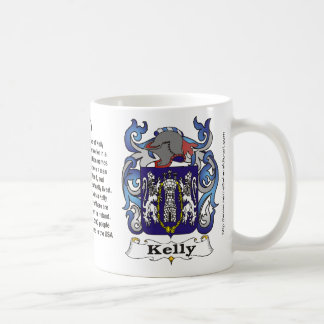 Kelly Family Crest on a mug