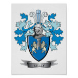 Kelly Family Crest Poster