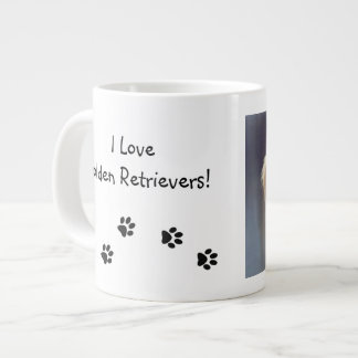 Kelly Golden Retriever Puppy Paw Prints Mug Jumbo Mug