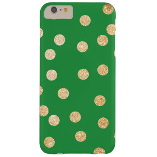 Kelly Green and Gold City Dots Barely There iPhone 6 Plus Case