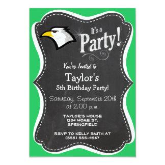 Kelly Green Bald Eagle 13 Cm X 18 Cm Invitation Card