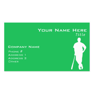 Kelly Green Baseball Player Pack Of Standard Business Cards