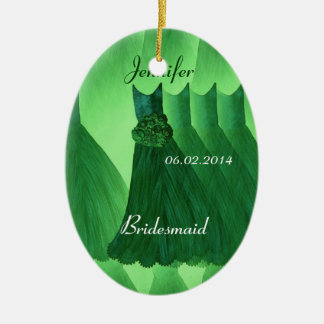KELLY GREEN Bridesmaid Thank You Wedding Christmas Tree Ornament