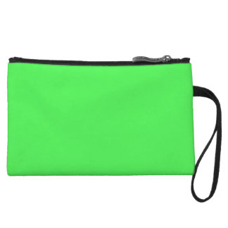 Kelly Green Bright Spring Neon 2015 Color Trend Wristlet Purse