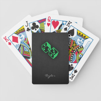 Kelly Green Casino Dice Bicycle Playing Cards