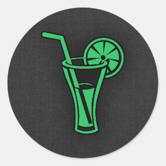 Kelly Green Cocktail Round Sticker