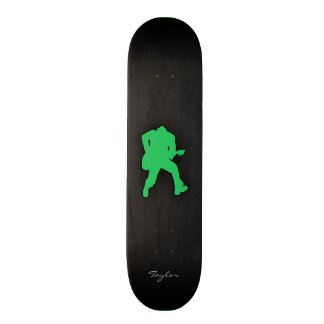Kelly Green Guitar Player Skate Board Decks