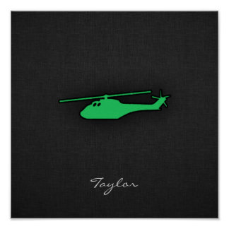 Kelly Green Helicopter Print