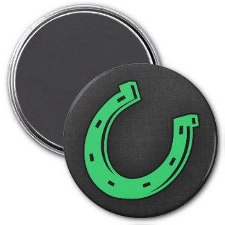 Kelly Green Horseshoe 7.5 Cm Round Magnet