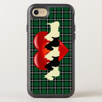 Kelly green Irish green Scottish Terrier, heart OtterBox Symmetry iPhone 8/7 Case