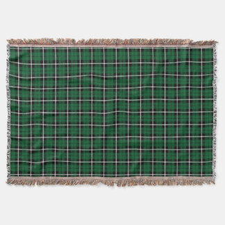 Kelly green Irish green white/black stripe Throw Blanket