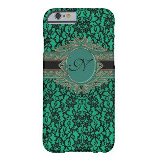 Kelly Green Irish Lace Custom Monogram Barely There iPhone 6 Case