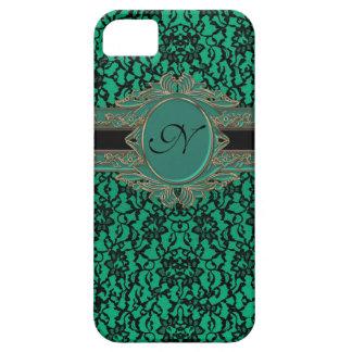 Kelly Green Irish Lace Custom Monogram iPhone 5 Case