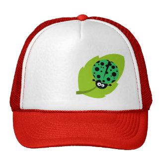 Kelly Green Ladybug Mesh Hat