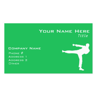 Kelly Green Martial Arts Pack Of Standard Business Cards