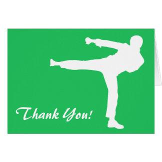 Kelly Green Martial Arts Note Card