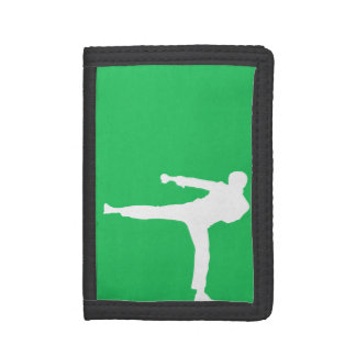 Kelly Green Martial Arts Tri-fold Wallet