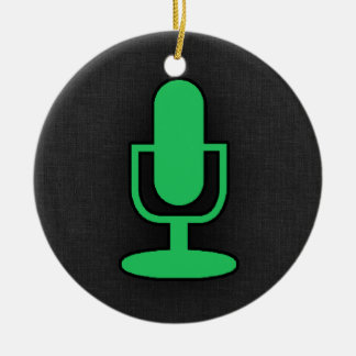 Kelly Green Microphone Christmas Ornament