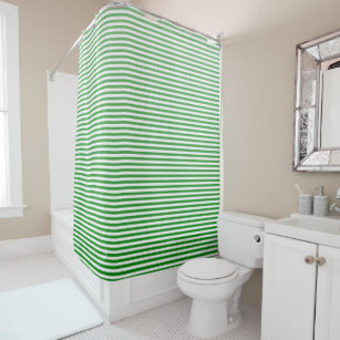 Kelly Green Ombre Stripe Shower Curtain