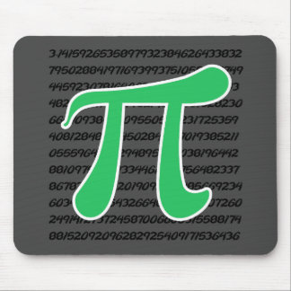 Kelly Green Pi Mouse Pad