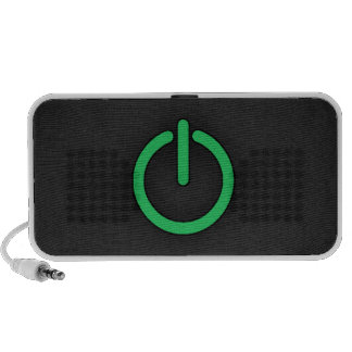 Kelly Green Power Button iPod Speakers