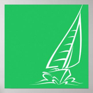 Kelly Green Sailing Poster