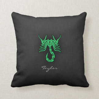 Kelly Green Scorpio Cushion