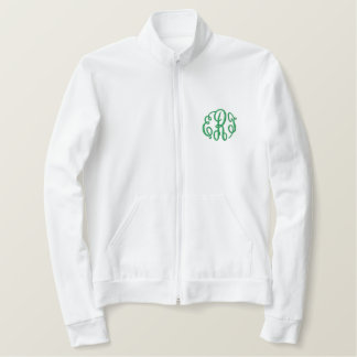 Kelly Green Script Embroidered Monogram Jacket