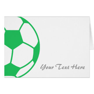 Kelly Green Soccer Ball Card