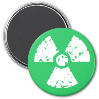 Kelly Green Toxic Waste 7.5 Cm Round Magnet