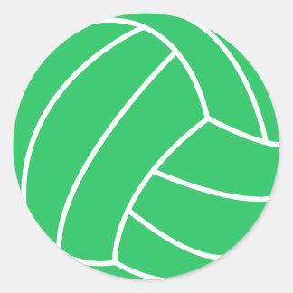 Kelly Green Volleyball Round Sticker