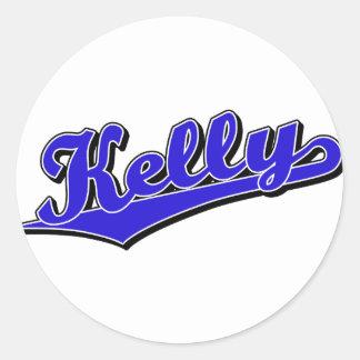 Kelly in Blue Round Sticker