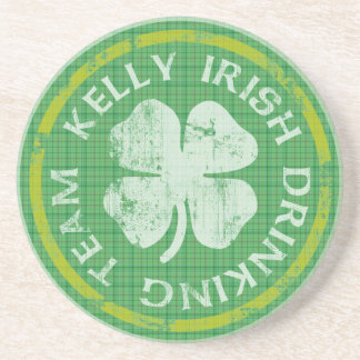 Kelly Irish Drinking Team Coaster