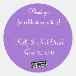 Kelly & Nick #1 Round Sticker