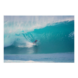 Kelly Slater at Pipeline Masters Print