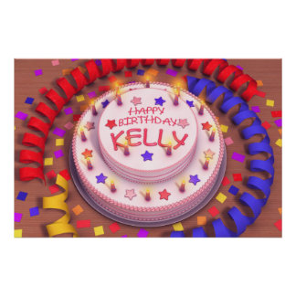 Kelly's Birthday Cake Poster