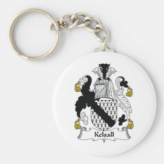 Kelsall Family Crest Key Ring