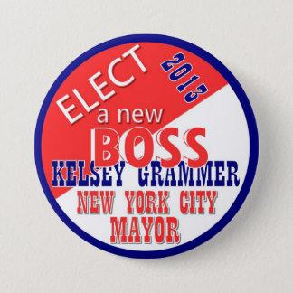 Kelsey GRammer NYC Mayor 2013 7.5 Cm Round Badge
