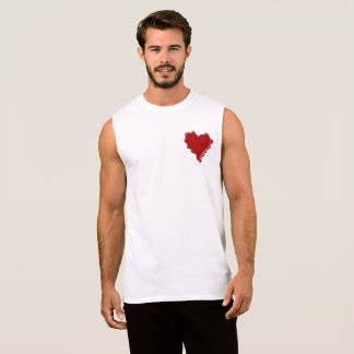 Kelsey. Red heart wax seal with name Kelsey Sleeveless Shirt