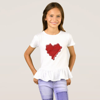 Kelsey. Red heart wax seal with name Kelsey T-Shirt