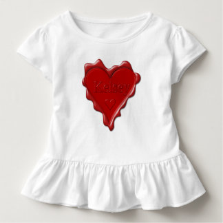 Kelsey. Red heart wax seal with name Kelsey Toddler T-Shirt