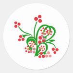 Kelten Blumen Ornament celtic flowers Round Sticker